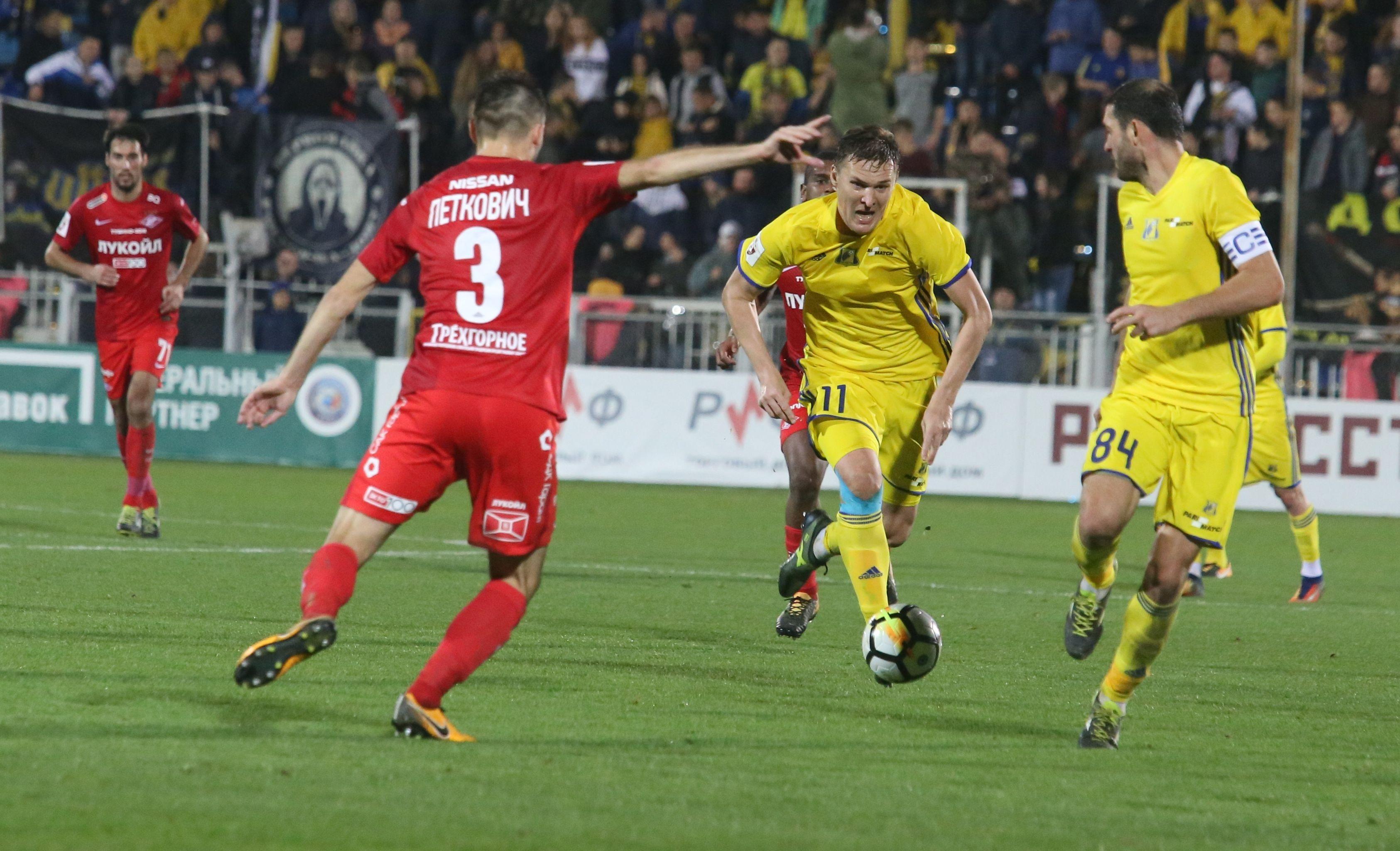 «Ахмат» одержал победу у«Ростова» впервом матче после отставки Кононова